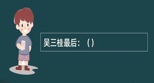 吴三桂最后:()