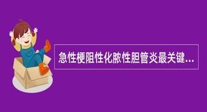 急性梗阻性化脓性胆管炎最关键的治疗是().