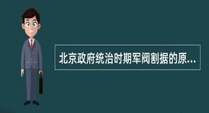 北京政府统治时期军阀割据的原因及概况。
