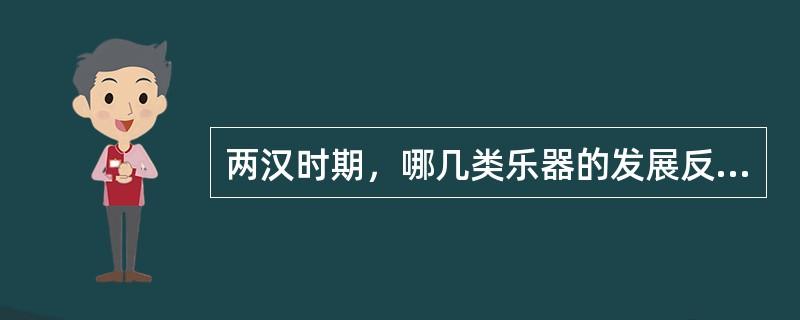 两汉时期,哪几类乐器的发展反映出值得注意的内容?